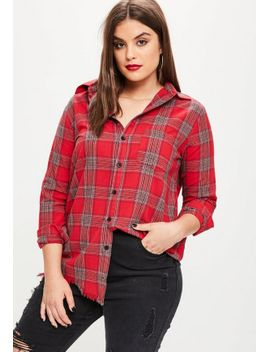 curve-red-checkered-shirt by missguided