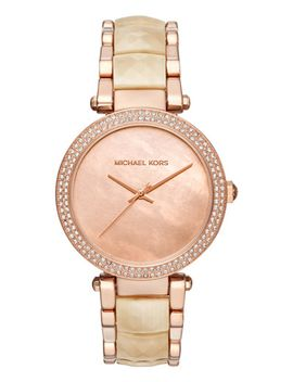womens-parker-champagne-acetate-and-rose-gold-tone-stainless-steel-bracelet-watch-39mm-mk6492 by michael-kors