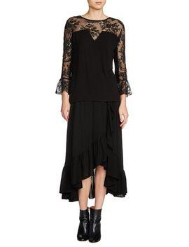 lace-sleeve-blouse by maje