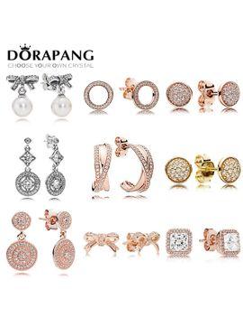 dorapang-100-percents-925-sterling-silver-earring-graceful-bow-knot-&-white-pearl-earrings-timeless-elegance-fit-bracelet-diy-making by ali-express