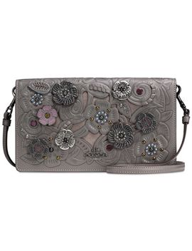 foldover-crossbody-clutch-with-metal-tea-rose-tooling by coach