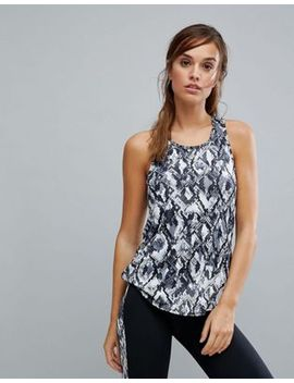 new-look-snake-print-gym-tank by new-look