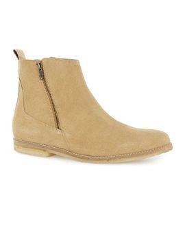 sand-suede-zip-boots by topman
