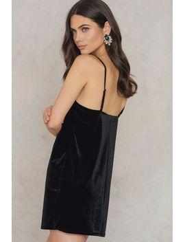 velvet-short-slip-dress by rebecca-stella