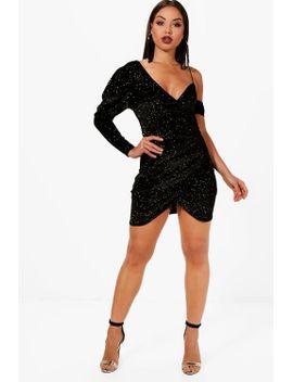 one-shoulder-glitter-mini-dress by boohoo