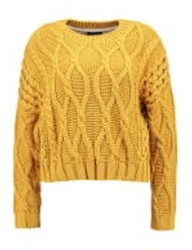 crop-cable---strickpullover by topshop
