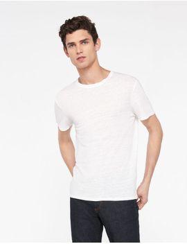 linen-t-shirt by sandro-paris