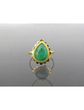 vintage-24k-980-solid-gold-natural-green-jadeite-jade-ring-size-65 by etsy