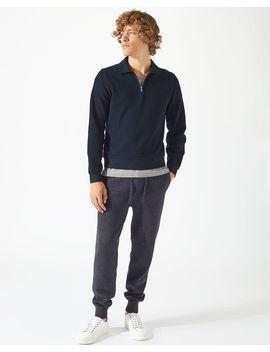 half-zip-pique-sweater by jigsaw