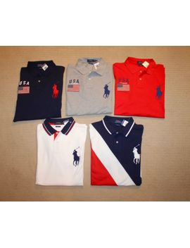 us-polo-assn-big-pony-short-sleeves-striped-collar-classic-mesh-shirt-m-l-xl-xxl by ebay-seller