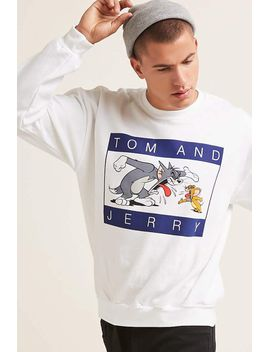 tom-and-jerry-graphic-sweatshirt by forever-21