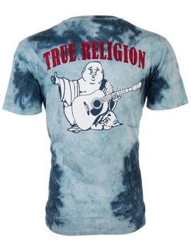 true-religion-mens-t-shirt-part-buddha-raglan-black-red-sleeves-$79-jeans-nwt by ebay-seller