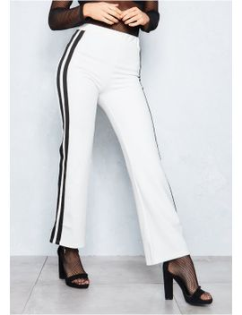 trishna-cream-stripe-jogging-trousers by missy-empire