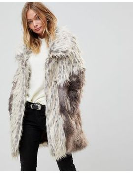 urbancode-faux-fur-coat-with-oversize-collar by urbancode