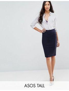 asos-design-tall-high-waisted-pencil-skirt by asos-design