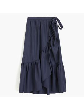 collection-ruffle-wrap-skirt-in-taffeta by jcrew
