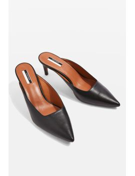 joanne-leather-heel-mules by topshop