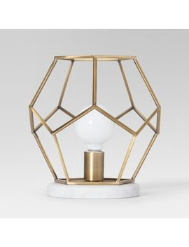 geometric-with-marble-accent-lamp-brass---project-62 by shop-this-collection