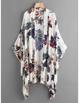 sheintropical-print-poncho-kimono by sheinside