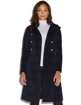brushed-peacoat by shoedazzle