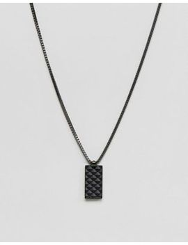 emporio-armani-pendant-necklace-in-black by emporio-armani
