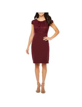 chelsea-rose-short-sleeve-lace-sheath-dress by chelsea-rose