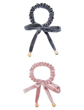 2x-velvet-bow-hair-ponies by accessorize
