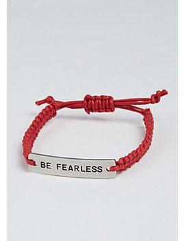 be-fearless-golden-charm-bracelet by rue21