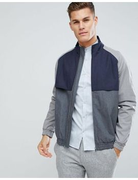 asos-harrington-jacket-with-colour-block-in-grey by asos