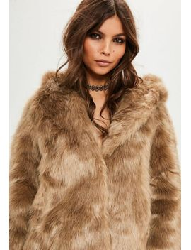premium-nude-faux-fur-coat by missguided