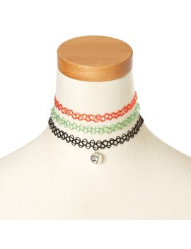 holiday-tattoo-choker-set by claires