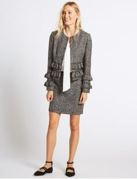 textured-a-line-mini-skirt by marks-&-spencer
