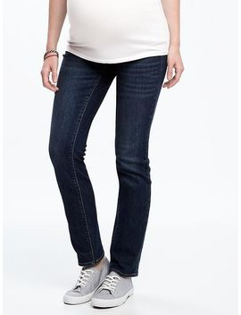 maternity-side-panel-original-straight-jeans by old-navy