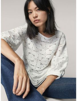 guipure-blouse-with-floral-detail by massimo-dutti