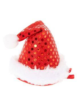 mini-sequin-santa-hat-hair-clip by claires