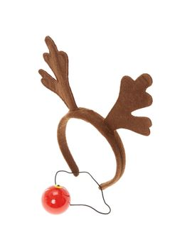 flashing-rudolph-nose-and-reindeer-ears-set by claires