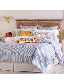 ticking-stripe-comforter,-blue-by-the-pioneer-woman by the-pioneer-woman