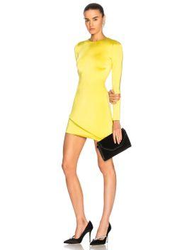 asymmetrical-hem-long-sleeve-mini-dress by cushnie