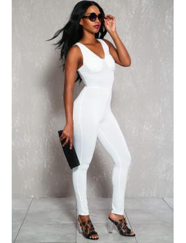 sexy-white-sleeveless-padded-dressy-casual-jumpsuit by ami-clubwear