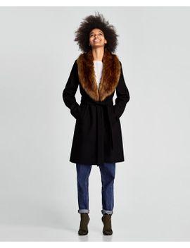 manteau-À-col-effet-fausse-fourrure by zara