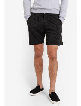 "melange-knit-7""-shorts by zalora"