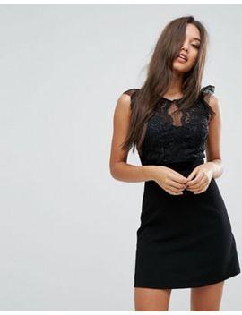 lipsy---robe-trapèze-façonnée-bordée-de-dentelle by lipsy