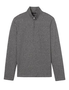 luxury-touch-texture-half-zip by banana-repbulic
