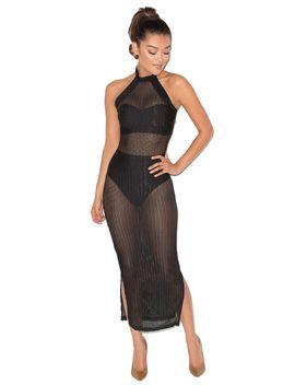 black-sheer-open-weave-maxi-dress---sale by mistress-rocks