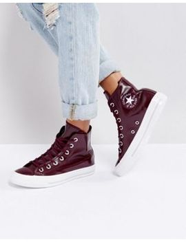 converse-–-chuck-taylor-–-hohe-lack-sneaker-in-burgunder by converse