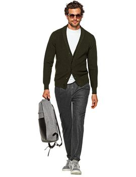 green-shawl-collar-cardigan by suitsupply