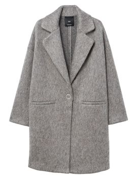 unstructured-mohair-blend-coat by mango