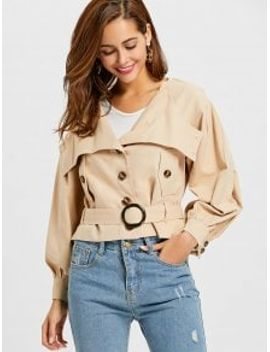 lantern-sleeve-belted-jacket---apricot-s by zaful