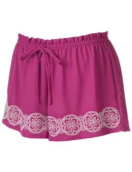 juniors-about-a-girl-embroidered-shortie-shorts by kohls