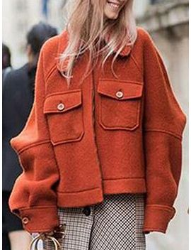 orange-zip-front-wool-blend-jacket by choies